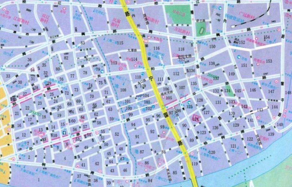 杨浦街坊分布图