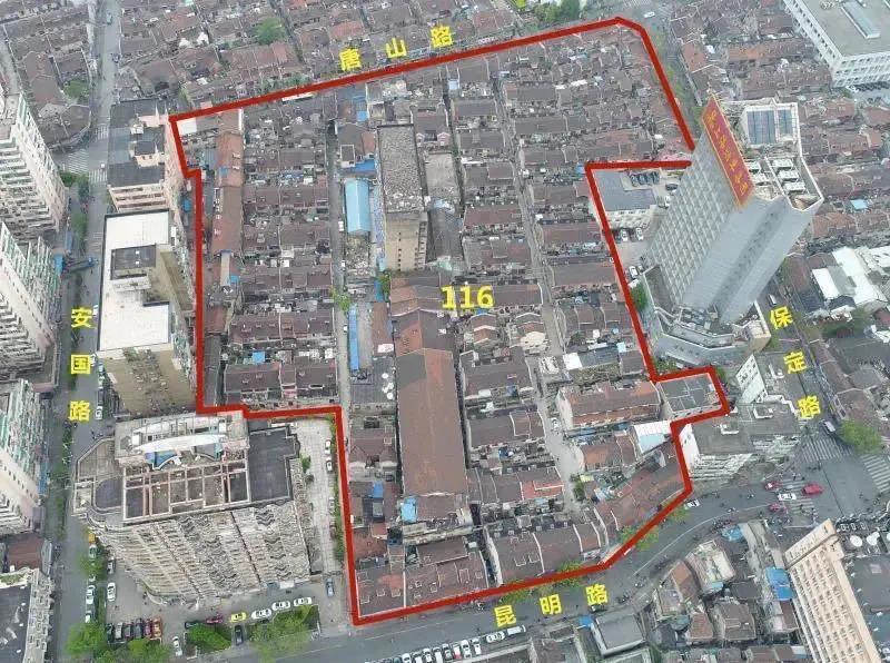 116街坊图 - 虹口116街坊征收补偿决定8月13日高比例生效