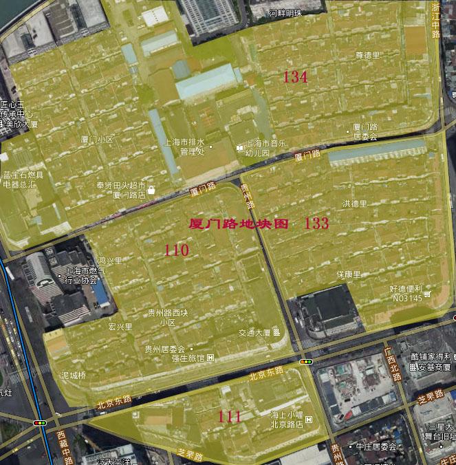 厦门路地块图 - 厦门路地块110、111、133、134街坊发布征收决定及房屋征收补偿方案