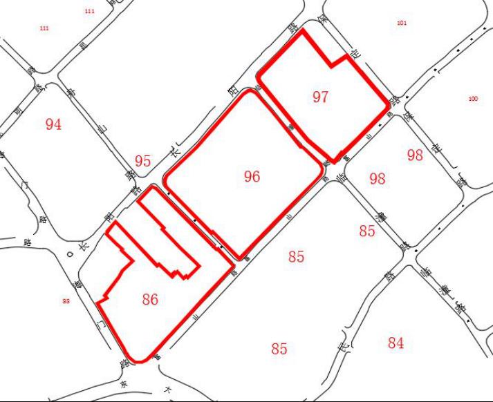 86、96、97街坊 - 虹口区83、84、85、86、94、95、96、97、98、99街坊动迁范围